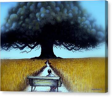 I Looked At The Abandoned Tree And I Not Saw Nests Neither Birds Canvas Print by Paulo Zerbato