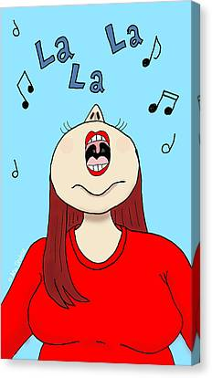 I Love To Sing Canvas Print by Ana Tirolese