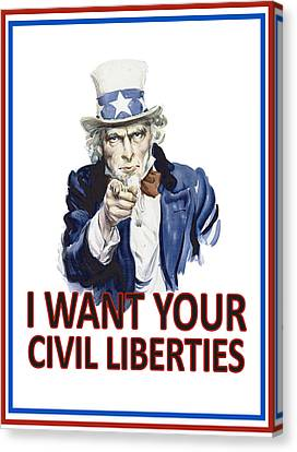 I Want Your Civil Liberties Canvas Print by Matt Greganti