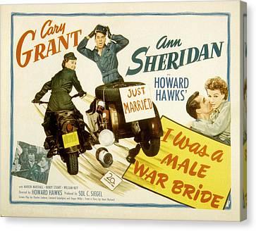 I Was A Male War Bride, Cary Grant, Ann Canvas Print by Everett