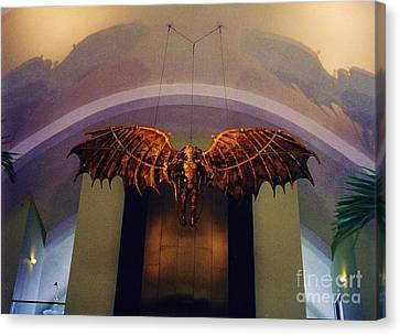 Icarus In The Louis Armstrong International Airport In New Orleans Canvas Print by John Malone