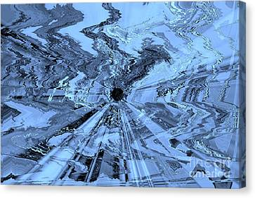 Ice Blue - Abstract Art Canvas Print by Carol Groenen