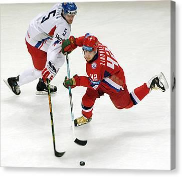 Ice Hockey Canvas Print by Ria Novosti