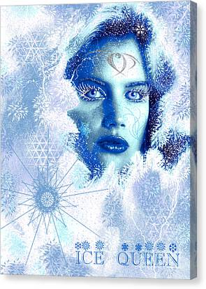 Ice Queen Canvas Print by Methune Hively