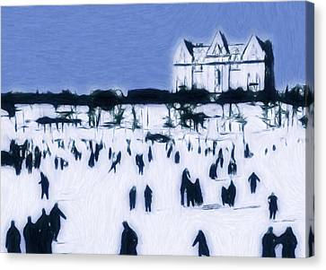Ice Skating In Central Park Canvas Print by Stefan Kuhn