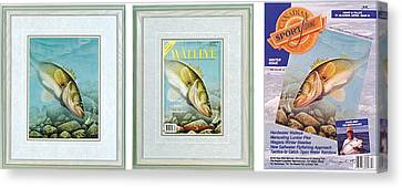 Ice Walleye Canvas Print by JQ Licensing