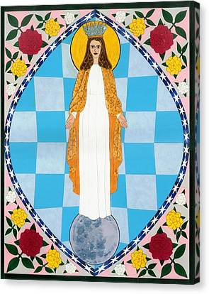 Icon Of The Immaculate Conception Canvas Print by David Raber