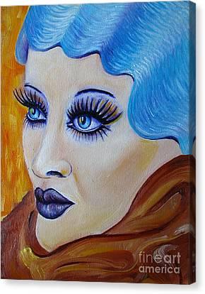 Icy Water Canvas Print by Iglika Milcheva-Godfrey
