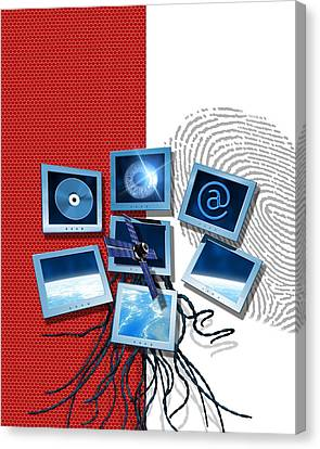 Identification And Surveillance Technology Canvas Print by Victor Habbick Visions