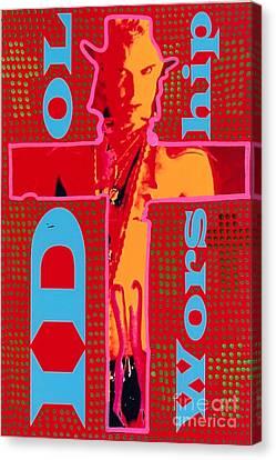 Idol Worship Canvas Print by Ricky Sencion
