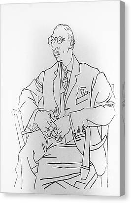 Igor Stravinsky, Russian Composer Canvas Print by Omikron