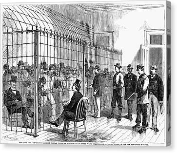 Illegal Voters, 1876 Canvas Print by Granger