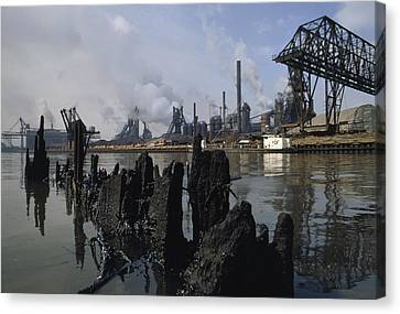 In 1969, This River Was So Polluted Canvas Print by James P. Blair