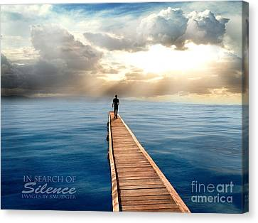 In Search Of Silence  Canvas Print by Eugene James