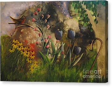 In The Beginning Canvas Print by Barbara McNeil