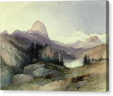 In The Bighorn Mountains Canvas Print by Thomas Moran