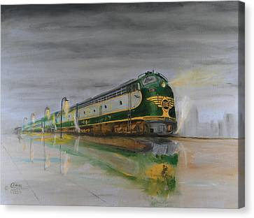 In The Cold Mist Canvas Print by Christopher Jenkins