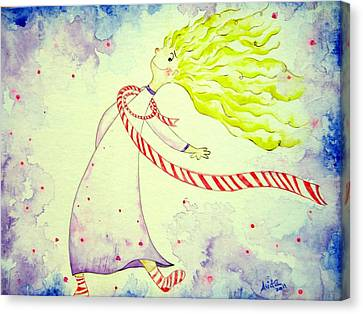 In The Happiness Canvas Print by Asida Cheng