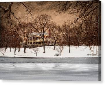 In The Midst Of Winter Canvas Print by Robin-lee Vieira