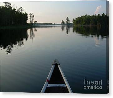 In The Old Canoe Canvas Print by Alex Blaha