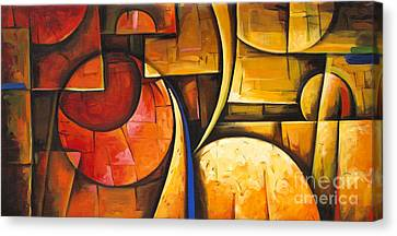 Inception Of Abstract 6 Canvas Print by Uma Devi