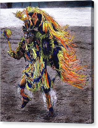 Indian Dancer Canvas Print by Randy Sprout