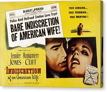 Indiscretion Of An American Wife, Aka Canvas Print by Everett