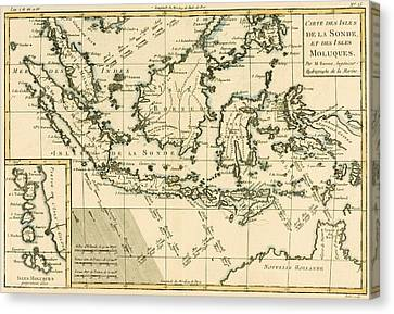 Indonesia And The Philippines Canvas Print by Guillaume Raynal