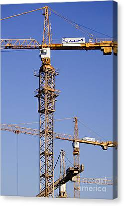 Industrial Cranes Canvas Print by Jeremy Woodhouse