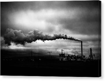 Industrial Eruption Canvas Print by Ilker Goksen