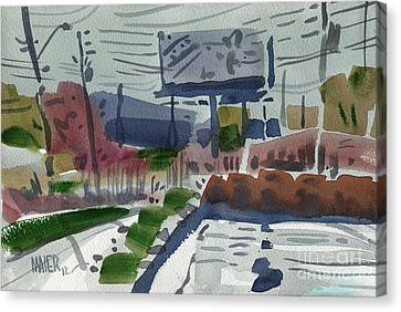 Industrial Park Two Canvas Print by Donald Maier