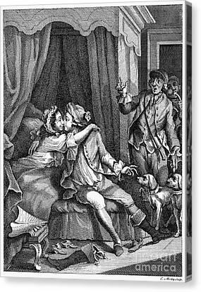 Infidelity, 18th Century Canvas Print by Granger