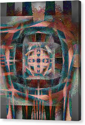 Infinite Scrollwork Canvas Print by Christopher Gaston