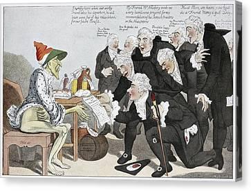 Influenza Epidemic, Satirical Artwork Canvas Print by