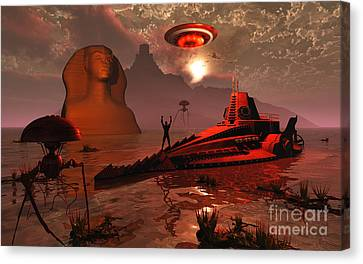 Inhabitants Of The Fabled City Canvas Print by Mark Stevenson