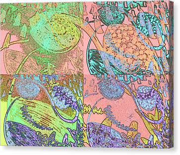 Inner Self - Pink Frequency Canvas Print by Maria Mars
