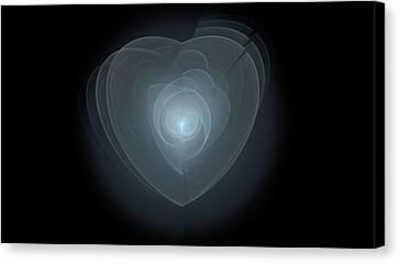Inside A Scorned Heart Canvas Print by Pennie Gibson
