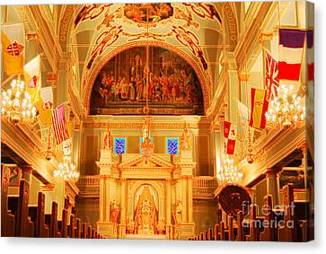 Inside St Louis Cathedral Jackson Square French Quarter New Orleans Accented Edges Digital Art Canvas Print by Shawn O'Brien