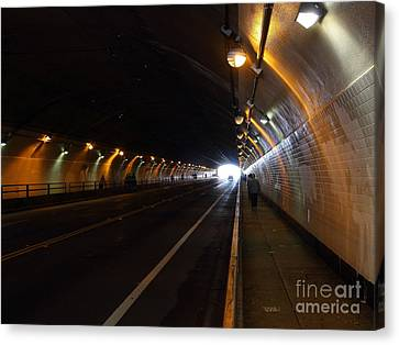 Inside The Stockton Street Tunnel In San Francisco . 7d7363.3 Canvas Print by Wingsdomain Art and Photography