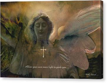 Inspirational Dreamy Angel Art Digital Painting  Canvas Print by Kathy Fornal