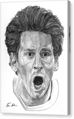Intensity Lionel Messi Canvas Print by Tamir Barkan
