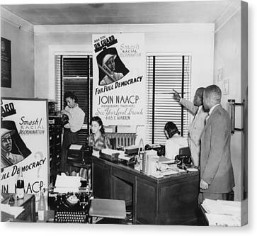 Interior View Of Naacp Branch Office Canvas Print by Everett