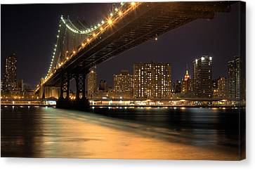 Into Manhattan  Canvas Print by JC Findley
