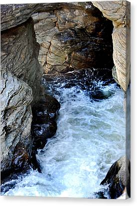 Into The Abyss Canvas Print by Skip Willits
