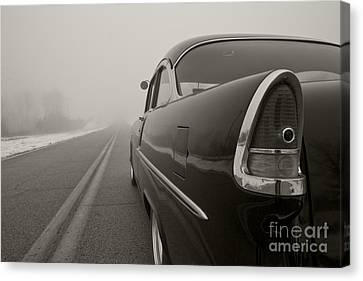 Into The Fog Canvas Print by Dennis Hedberg