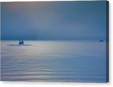 Into The Mist Canvas Print by Steven Ainsworth