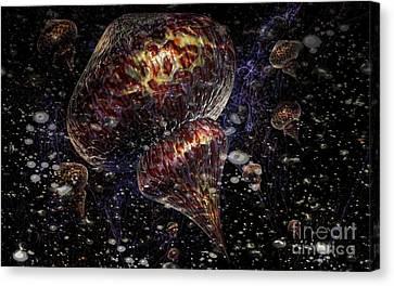 Invasion Of Medusa Canvas Print by Jan Willem Van Swigchem