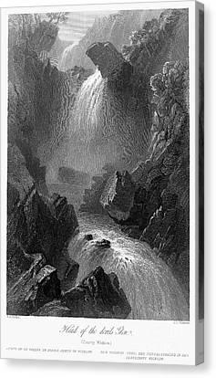 Ireland: Devils Glen, C1840 Canvas Print by Granger