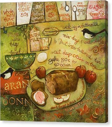 Irish Brown Bread Canvas Print by Jen Norton