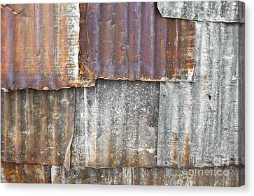 Iron Weathering A Variety Of Wall Canvas Print by Chavalit Kamolthamanon